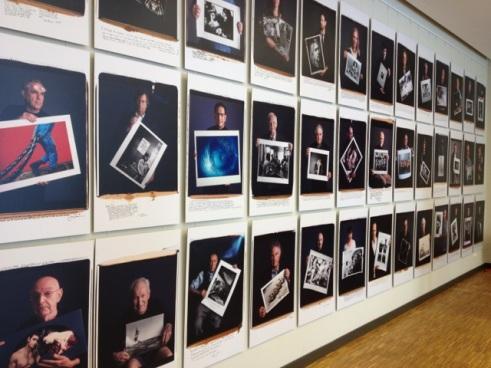 Fotografenwand im Max-Hünten-Haus