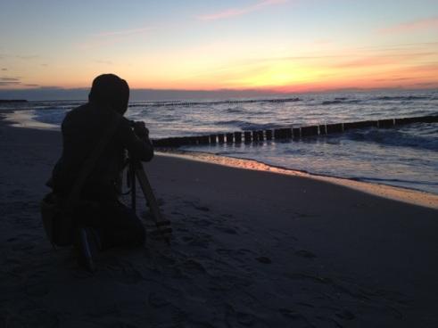Auch sehenswert - in Zingst geht die Sonne im Meer unter - Foto © claudia pautz 2012