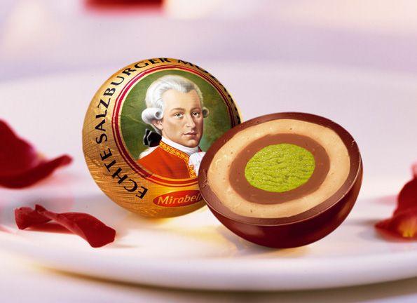 Echte Salzburger Mozartkugel - schwer zu erkämpfen und richtig lecker