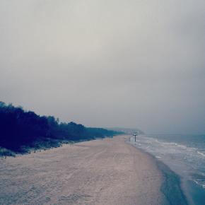 Usedom Morgens Januar Strand